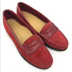 G.H. Bass & Co Weejuns Suede Pinked Penny Loafers